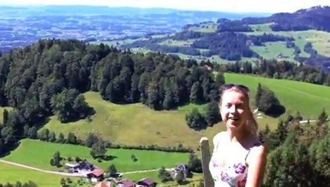 Swiss girl in call for more naked hiking