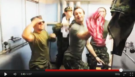 'Sexy' Swiss soldiers in Britney Spears video remake