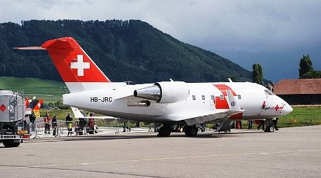 Swiss air rescue flying injured US soldiers