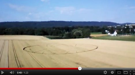 Police baffled by Swiss crop circles