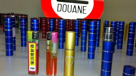 Customs seize tear gas in lipsticks and lighters