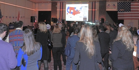 Obama's win ends long election party night