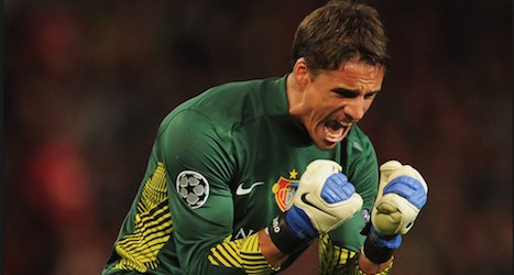 Goalie's save puts Basel vs. Spurs in Europa Cup