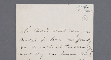 Liszt letters to be auctioned in Geneva