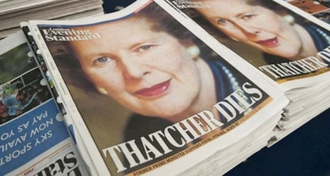 Thatcher remembered for sparking Bern protest