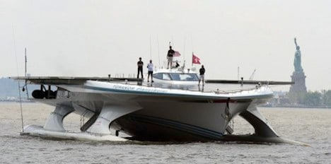 Swiss solar boat sails to US on climate mission