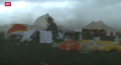 Swiss gym festival tent collapse injures 39