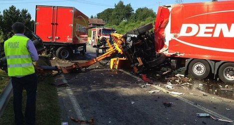 Truck driver dead after crash with hedge trimmer