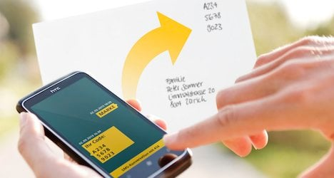 Swiss Post tests SMS mobile letter stamp