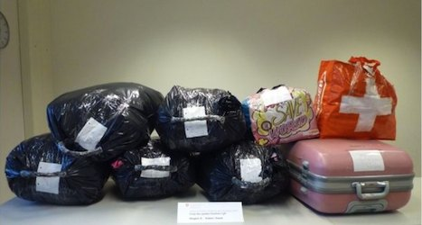 Hundreds of 'stolen' items found on bus
