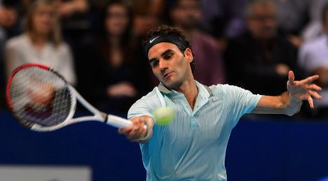 Federer wins Swiss Indoors opening round