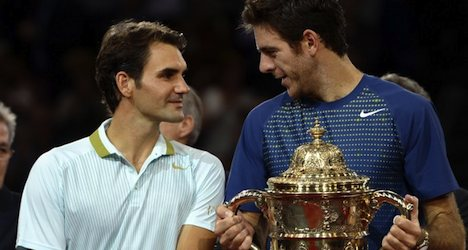 Federer loses to Del Potro at Swiss Indoors