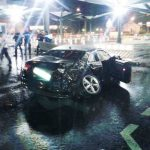 A photo showing the state of the black Audi following the accident.Photo: Swiss Border Guard