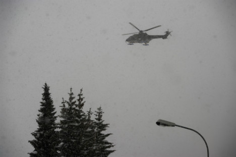 Child escapes helicopter crash unharmed