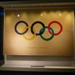 Exhibits include the first Olympic flag created in 1914.Photo: Caroline Bishop
