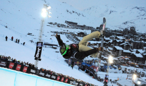 Swiss 'I-Pod' at peace with pipe in Sochi