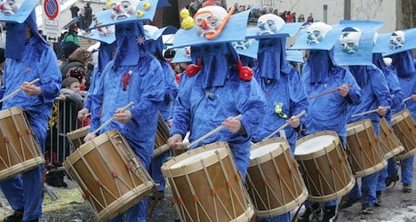 Basel drummers pound out expert carnival beat