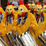 """""""Chickens"""" drumming at the FasnachtPhoto: Basel Tourism"""