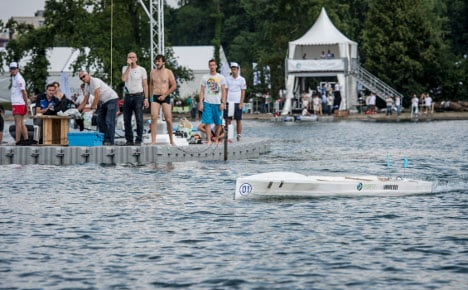 Students race futuristic boats in Lausanne