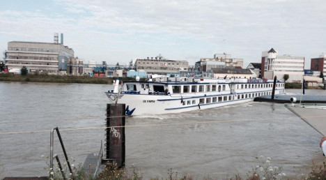 Cargo barge and ferry collide on Rhine in Basel