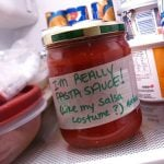 """Salsa sauce. We've moved to your country, we've sampled your """"cuisine"""", we've pulled apart your pretzels and tampered with your tapas. Now just leave us alone to drench our weak interpretation of Mexican food in a weak interpretation of salsa sauce. Gracias!Photo: Evelyn Giggles"""