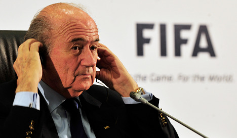 Zurich police quell protest over Fifa chief