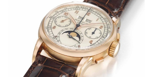 Rare Swiss watches fetch record prices