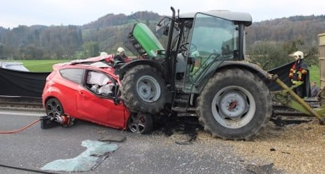 Man dies in head-on collision with tractor