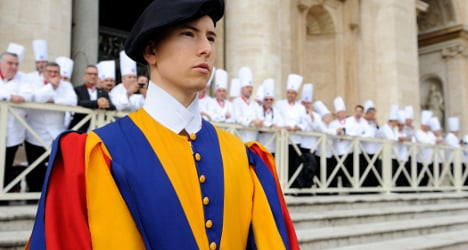 Swiss spills beans about guarding the pope