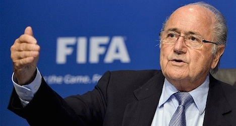 Fifa's Blatter pays tribute to French terror victims
