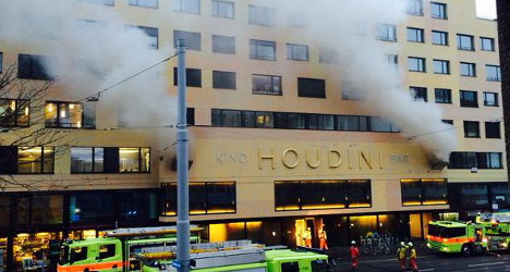 Lucky escape after fire at Zurich's 'Houdini' cinema