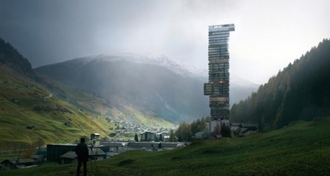 Europe's tallest hotel pitched for Swiss village
