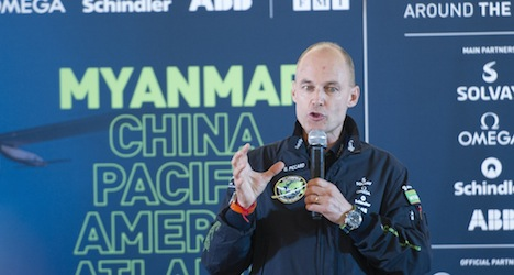 Solar plane pauses before flight to China
