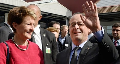 Hollande basks in good vibes from Swiss visit