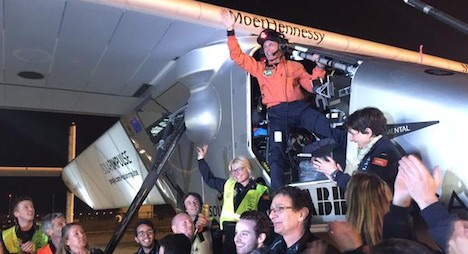 Solar Impulse finishes sixth stage in Nanjing