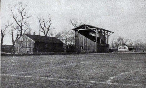 The one stand and changing room of Bayern's original home ground. Photo: Jewish Museum