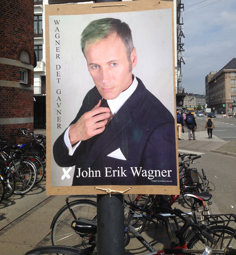Wagner's other poster. Photo: Justin Cremer