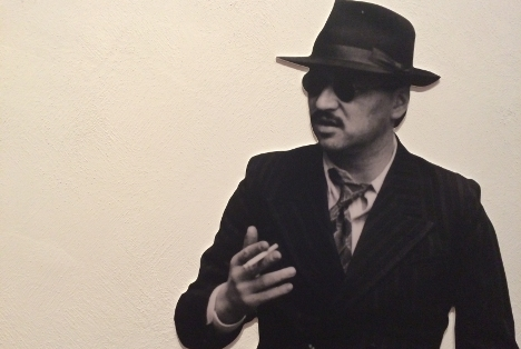 A wall mural at the Fassbinder exhibition in Berlin. Photo: Matty Edwards
