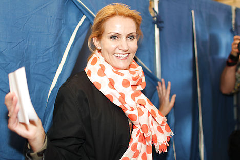 Helle Thorning-Schmidt casts her vote in the 2011 election, which she both won and lost. Photo: Erik Refner/Scanpix