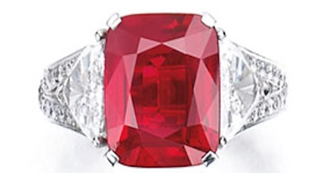 Ruby fetches record $30 million at Geneva auction
