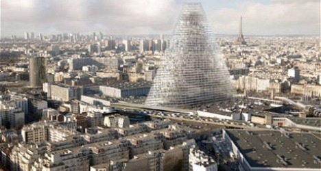 Basel architects design 'Triangle Tower' in Paris