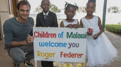 Federer visits Malawi to launch children's project