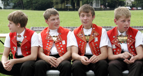 Shock as kids allowed to smoke at Swiss festival