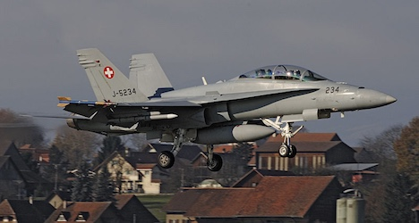 Swiss fighter jet sparks diplomatic incident