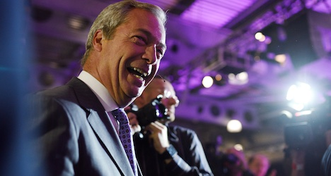 UKIP's Farage invited to visit Bern by Swiss MP