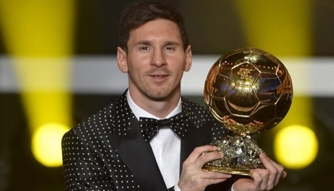 Messi tipped for fifth Ballon d'Or in Zurich