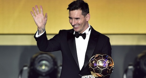 Messi wins fifth Ballon d'Or at Zurich ceremony