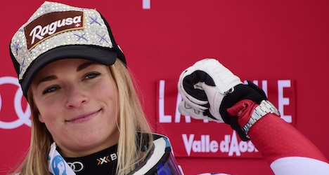 Gut clinches 18th World Cup ski victory in Italy