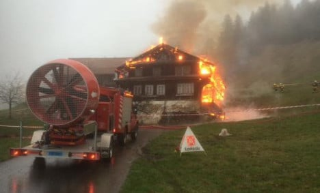 Historic house burns as fire brigade 'runs out of water'