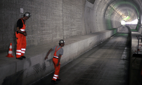 Vast Swiss rail tunnel finally sees light at end of long wait